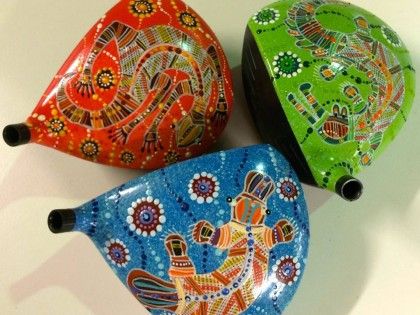 NEW Special Limited Edition Australia Aboriginal Art Driver Heads